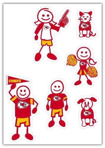 (Siskiyou NFL Kansas City Chiefs Small Family Decal Set)