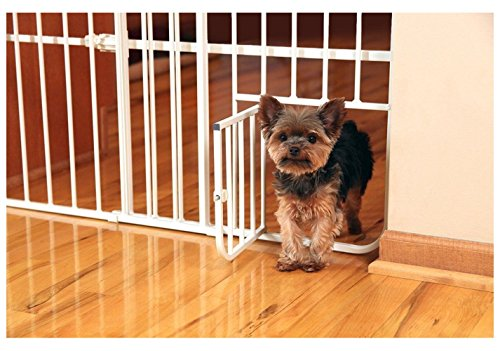 Bopstyle Pet Dog Gate Puppy Cat Door Expandable Barrier Animal Fence Indoor Safety Lock for Home 51XkpA2MZyL