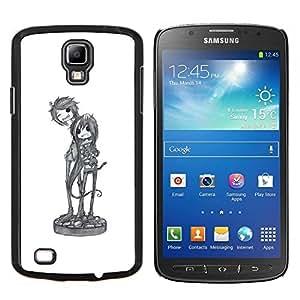 EJOOY---Cubierta de la caja de protección para la piel dura ** Samsung Galaxy S4 Active i9295 ** --boceto de un personaje del arte de la música de banda fresca