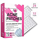 Acne Pimple Healing Patch - Absorbing Cover, Invisible, Blemish Spot, Hydrocolloid, Skin Treatment, Facial Stickers, Two Sizes, Blends in with skin (72 Patches)