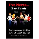 I've Never Bar Cards - The Outrageous Drinking Game of Hidden Secrets, This Game will Shock You, Surprise You, and Make You Laugh Out Loud, Includes 104 Questions and 10 Blank Cards