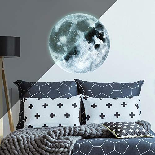 - RoomMates Moon Glow in the Dark Peel and Stick Wall Decals