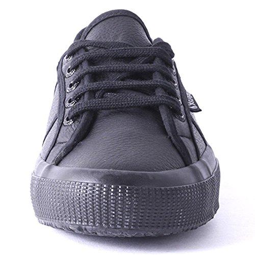 Superga - Zapatillas de deporte de satén para mujer Black