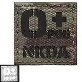 ir blood type - Multicam Infrared IR OPOS NKDA O+ Blood Type 2x2 Laser Reflective Tactical Morale Hook&Loop Patch