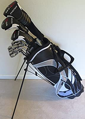 """Mens Complete Golf Set for Tall Men 6'0""""- 6""""6 Tall Driver, Fairway Wood, Hybrids, Irons, Putter, Stand Bag"""