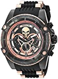 Invicta Men's 'Marvel' Quartz Stainless Steel and Silicone Watch, Color:Black (Model: 26861)