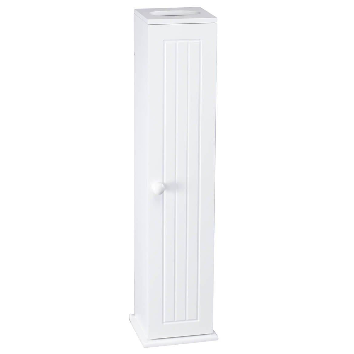 OakRidge White Compact Toilet Tissue Storage Tower