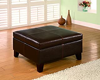 Coaster Home Furnishings Square Storage Ottoman Brown (B003ADFZNG) | Amazon Products