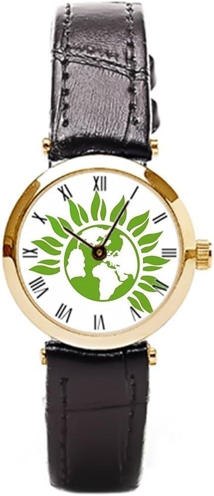 aromar Reino Unido logotipo de partido verde, correa de piel