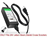 24V Circle Charger for Jetson Beam Slate E-Kick Air Cruise Scooter By Pure Power Adapters