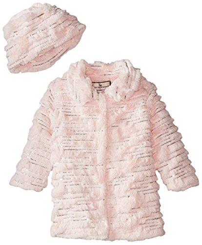 Widgeon Little Girls' Sparkle Coat with Hat, Sequin Pink, 5 by Widgeon