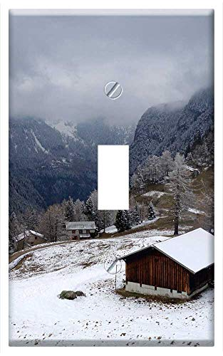 Switch Plate Single Toggle - Chalet Mountain Snow Switzerland Alps Landscape