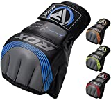 RDX MMA Gloves Sparring Martial Arts Grappling Maya Hide Leather Training Fighting Combat Punching Bag Gel Mitts