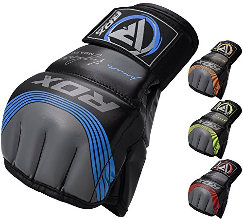 - RDX MMA Gloves Sparring Martial Arts Grappling Maya Hide Leather Training UFC Fighting Combat Punching Bag Gel Mitts