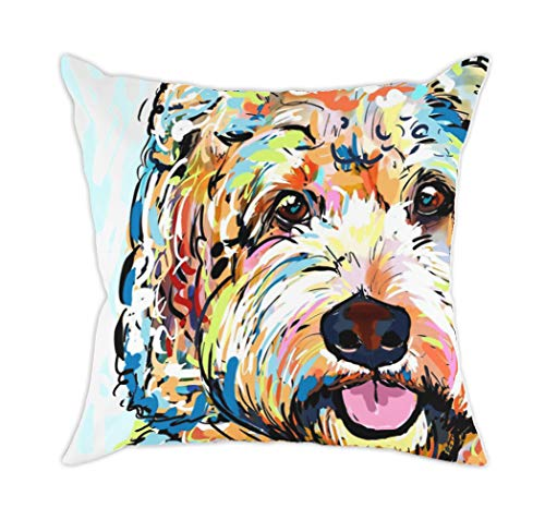 - Redland Art Cute Pet Bichon Frise Dog Pattern Throw Pillow Covers Cotton Polyester Cushion Cover Cases Pillowcases Sofa Home Decor 18
