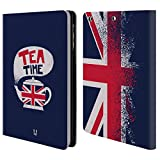 Head Case Designs Tea Time London Best Leather Book Wallet Case Cover For Apple iPad mini 4
