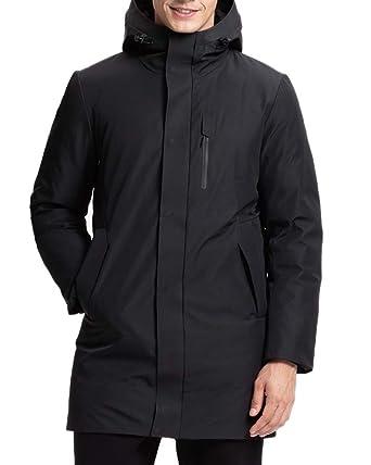 8c8e7856d Lumberfield Winter Outwear Thick Hooded Men's Windstopper Outdoor Long  Parkas Jacket Black XXL