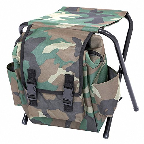 Genenic Multifunctional Foldable Camouflage Backpack Cooler Bag 3 in 1 Portable Fishing Stool and Sports Chair by Genenic