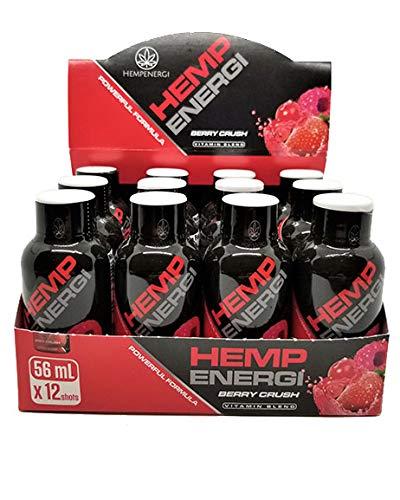 51XksSmcIKL - Hemp Energi Berry Crush, Vitamin Blend Hemp Oil Energy Shot Packed with Vitamins, Omega-3, Omega-6, and Essential Fatty Acids