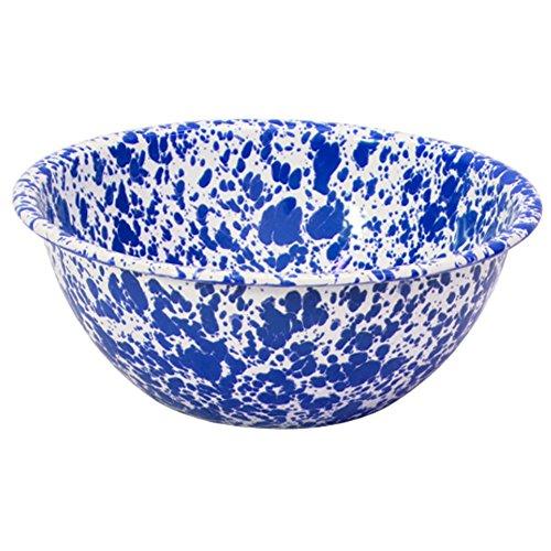Enamelware Serving Bowl - Blue Marble