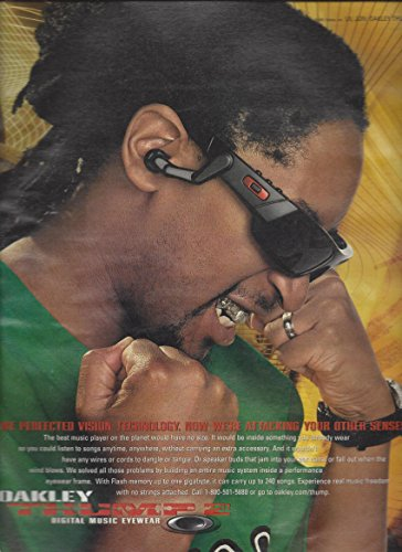 MAGAZINE ADVERTISEMENT For 2008 Oakley Thump 2 Glasses With Lil - Glasses Lil Jon