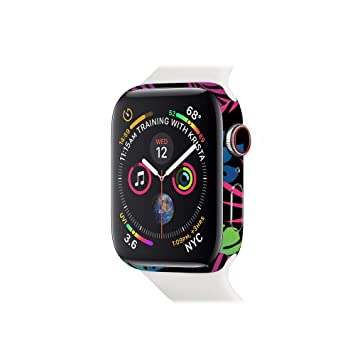 MightySkins Skin for Apple Watch Series 4 40mm - Neon Tropics | Protective, Durable,