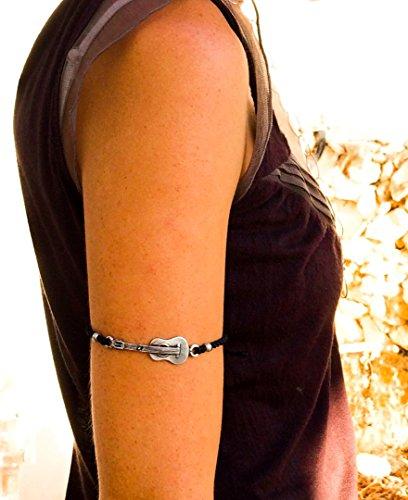 (Guitar and macrame upper arm bracelet, adjustable, Handmade)
