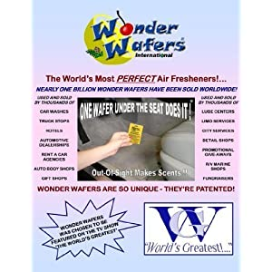 Wonder Wafers 25 CT Individually Wrapped Pina Colada Air Fresheners