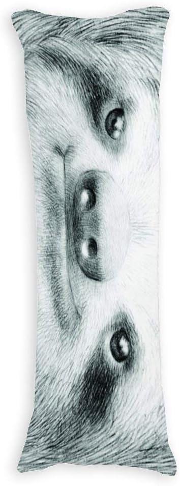 Single 3ft Baumwolle Fhdang Decor Faultier K/örper Kissenbezug Weiche Baumwolle maschinenwaschbar mit Rei/ßverschluss Schwangerschaft Kissenbezug 36