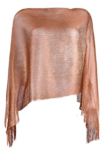 Shimmer Scarf (wedding sheer wraps and shawls summer fashion scarves for women Brown Gold)