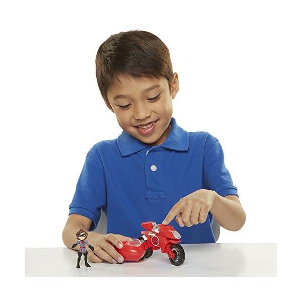 51XktPySn6L The Incredibles 2 Elasticycle & Elastigirl Vehicle Playset Action Figure