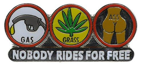 Sujak Military Items Gas - Grass - Ass Pot Marijuana Biker Hat or Lapel Pin NovP296