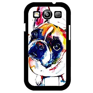 Disqualification Pet Dog Cover Shell Fashion Colorful Painting Design Lovely French Bulldog Phone Case Cover for Samsung Galaxy S3 I9300