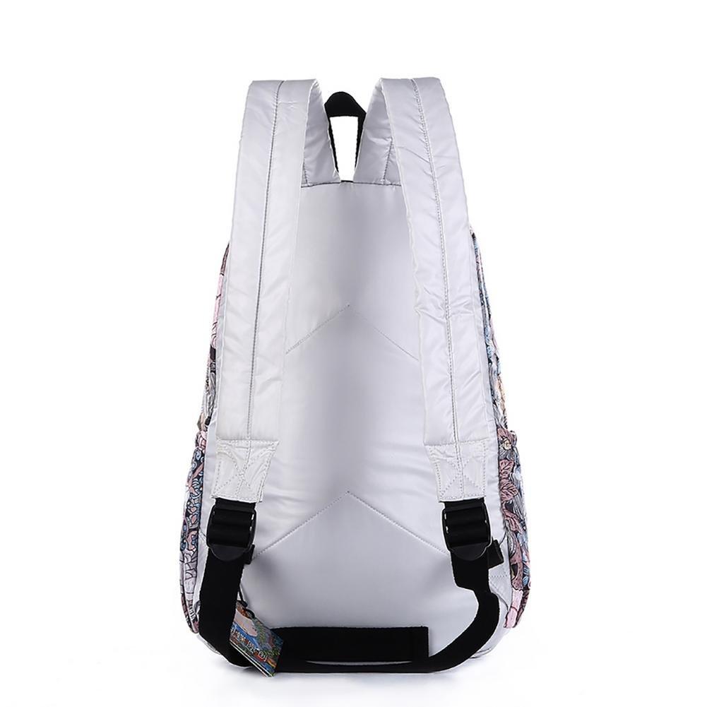 Black Butterfly Womens Student Backpack For Daypack Backpack School Bag white red v B1532V