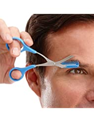 Eyebrow Scissors With Non Slip Finger Grips