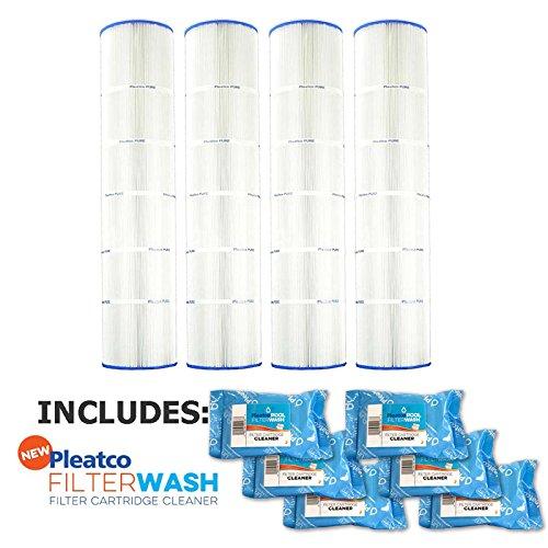 Pleatco Cartridge Filter PA137-PAK4 Hayward Super-Star-Clear C5500 SwimClear C5520 open w/molded gasket CX1380-RE w/ 6x Filter Washes