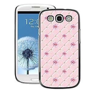 A-type Arte & diseño plástico duro Fundas Cover Cubre Hard Case Cover para Samsung Galaxy S3 (Pink Checkered Chocolate Rose Pattern)