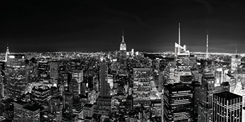 City Poster Skyline (New York City (NYC) Black and White Manhattan Skyline Decorative Photography Print (Unframed 12x24 Poster))