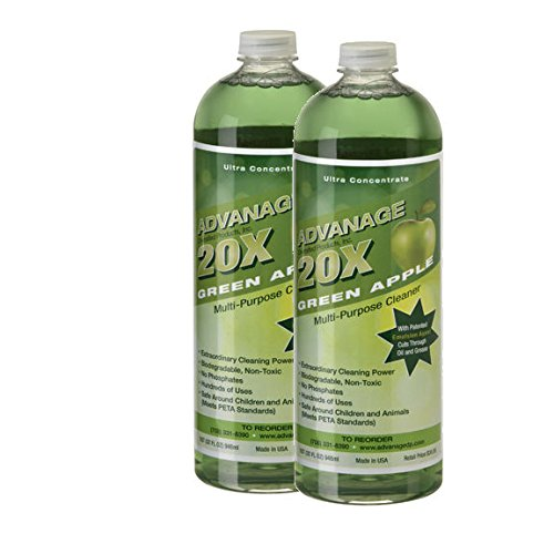 ADVANAGE 20X Multi-Purpose Cleaner Green Apple 2 Pack - Manufacturer Direct - 20X is Our Newest Formula!