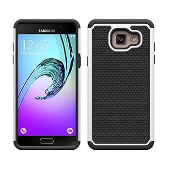 32nd® Funda Rígida Anti-Choques de Alta Proteccion para Samsung Galaxy A5 (2016) Carcasa Defensora de Doble Capa - Blanco