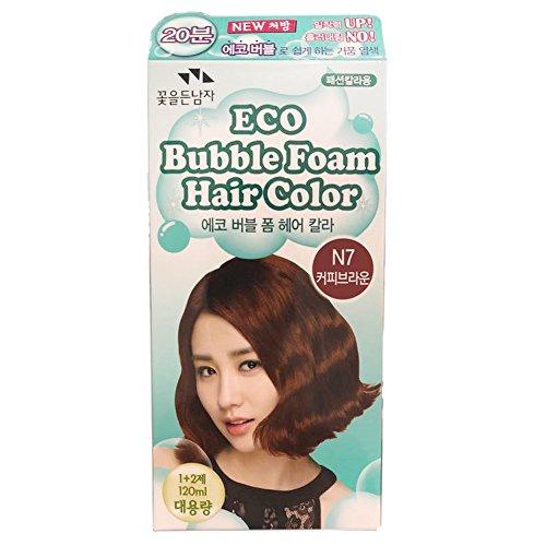 SOMANG ECO BUBBLE FOAM HAIR COLOR ( COFFEE BROWN N7 )