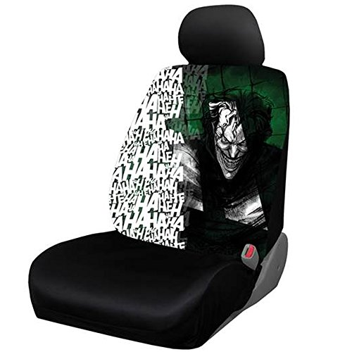 DC+Comics Products : The Joker Laughing Ha Ha Ha DC Comics Batman Auto Car Truck SUV Vehicle Low Back Front Bucket Seat Cover - SINGLE