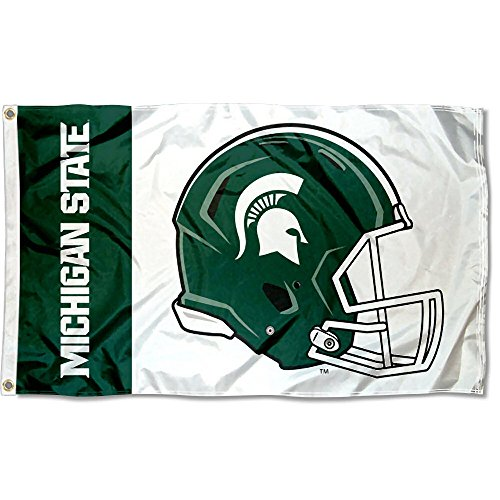 College Flags and Banners Co. Michigan State Spartans Football Helmet Flag