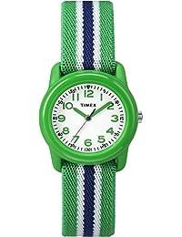 Timex Kid's TW7C060009J Boy's Green Stripe Analog Watch