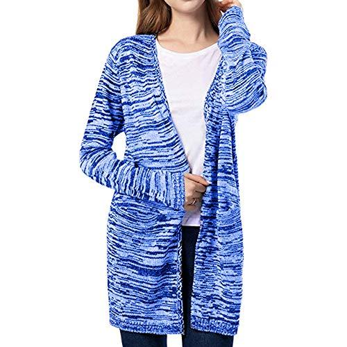 - Keliay Women Knit Cardigan Sweaters Open Front Wool Coat Outwear with Pockets