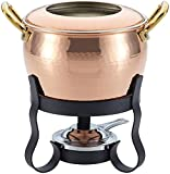 Ruffoni Historia Decor 4-Piece Fondue Michelle Set, Copper
