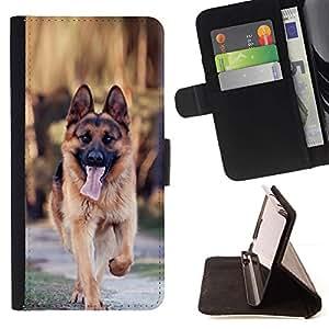 Momo Phone Case / Flip Funda de Cuero Case Cover - Majestic perro Shpeard alemán - Samsung Galaxy E5 E500