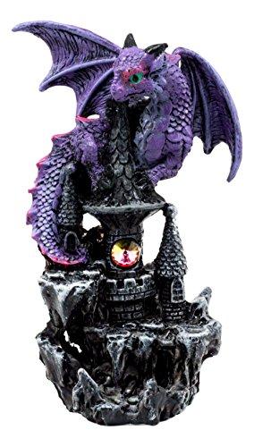 (Ebros Spyro Purple Twilight Dragon On Castle Top Figurine 5.25