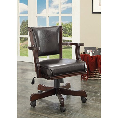 HOMES: Inside + Out IDF-GM340CH-AC Out Out Thatcher Contemporary Height Adjustable Game Chair, Cherry
