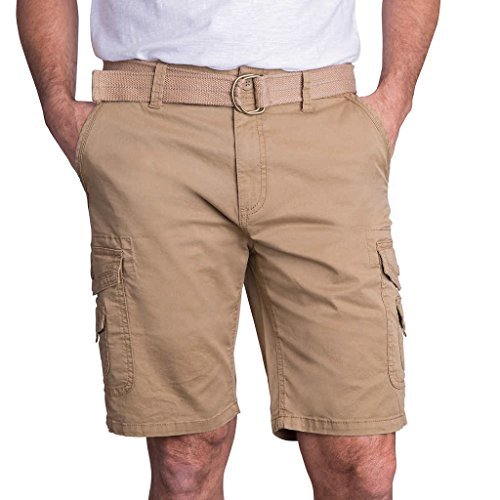 Men's Cargo Short with Belt, Tan, 38 (Costco Wholesale)